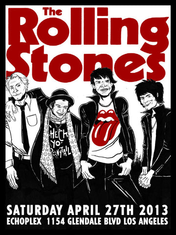 Rolling Stones at the Echoplex Poster by Franki Chan