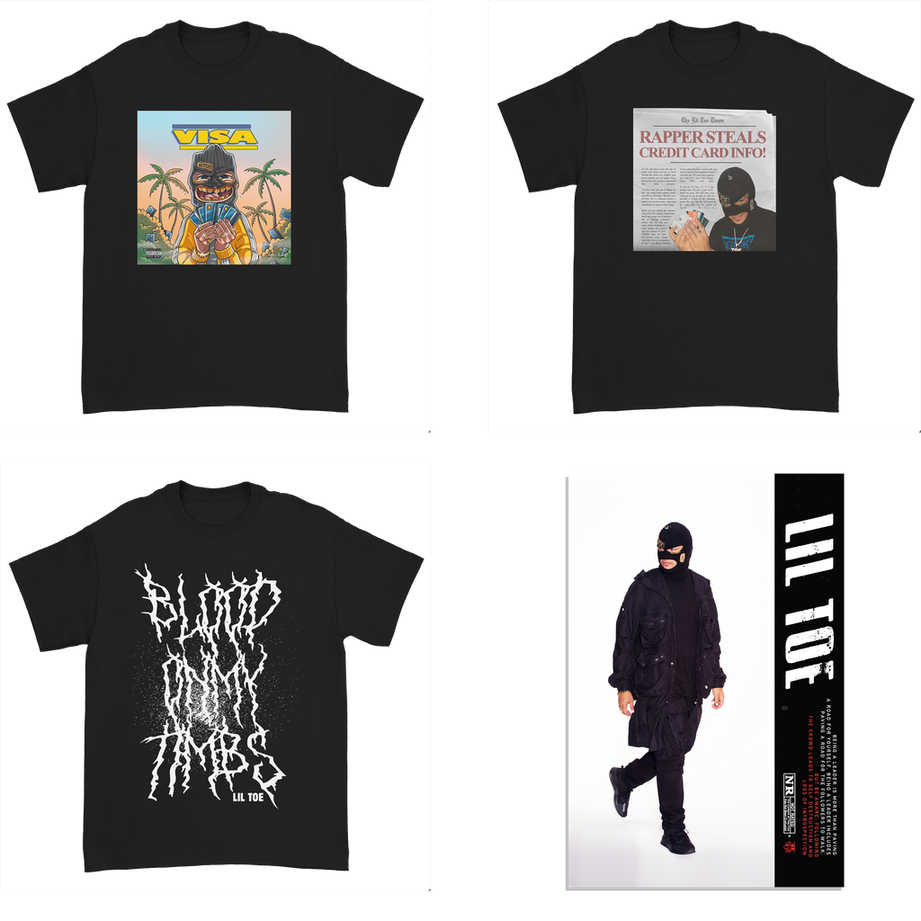 T-Shirt Bundle - Visa Tee + Newspaper Tee + BOMT Tee + Techwear Poster