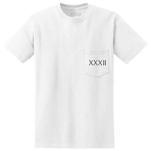 LIMITED EDITION WHITE XXXII POCKET TEE