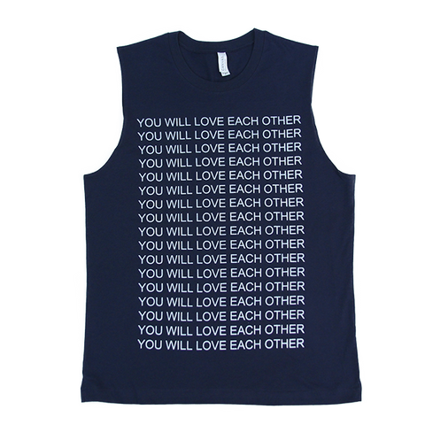 YOU WILL LOVE EACH OTHER Men's Muscle Tank (Navy)