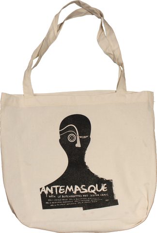 ANTEMASQUE SILHOUETTE TOUR CANVAS TOTE BAG