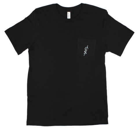"Black ""Undone"" Pocket Tee"