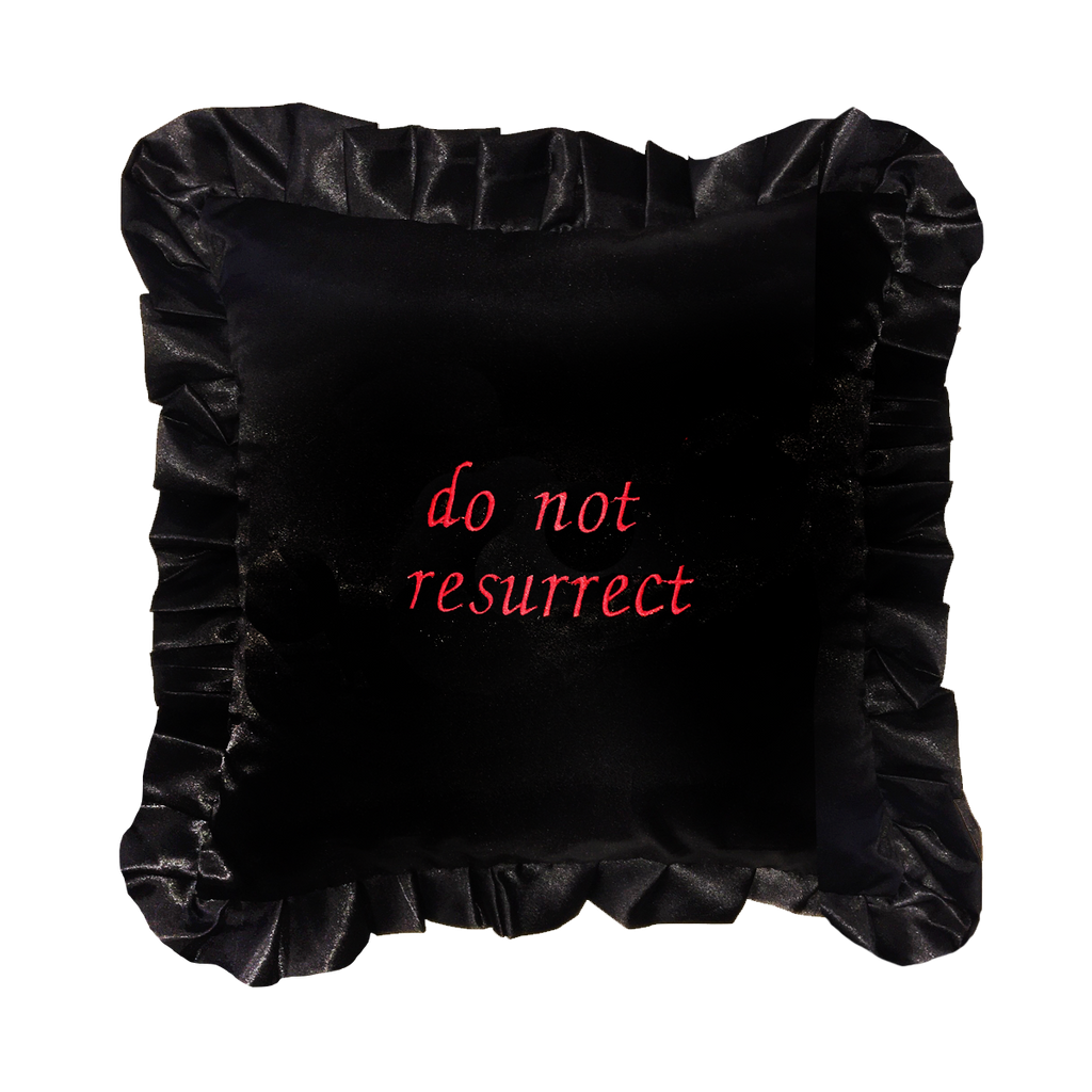 DO NOT RESURRECT PILLOW