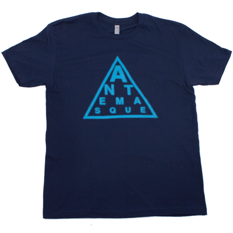 ANTEMASQUE BLUE TRIANGLE TEE