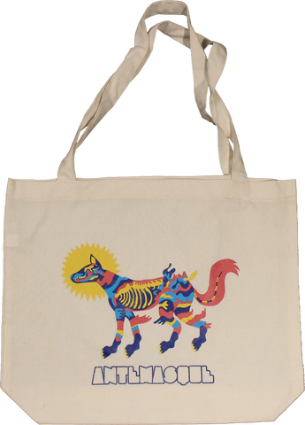 ANTEMASQUE COLOR FOX CANVAS TOTE BAG