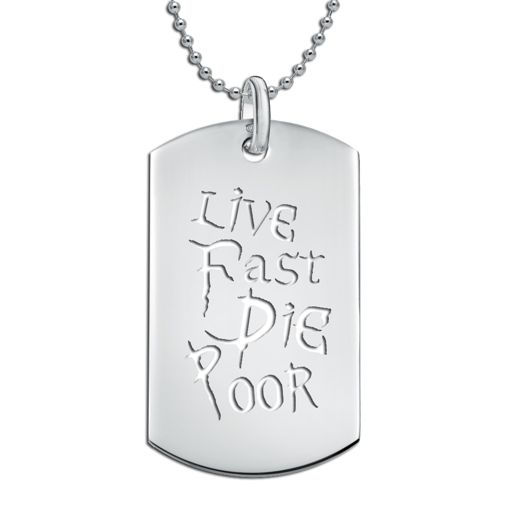 DIE POOR DOG TAG
