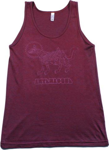 ANTEMASQUE CRANBERRY FOX OUTLINE TANK