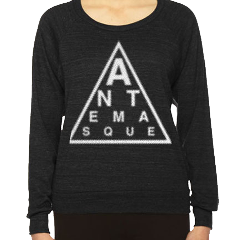 ANTEMASQUE WOMEN'S CREWNECK TRIANGLE LOGO
