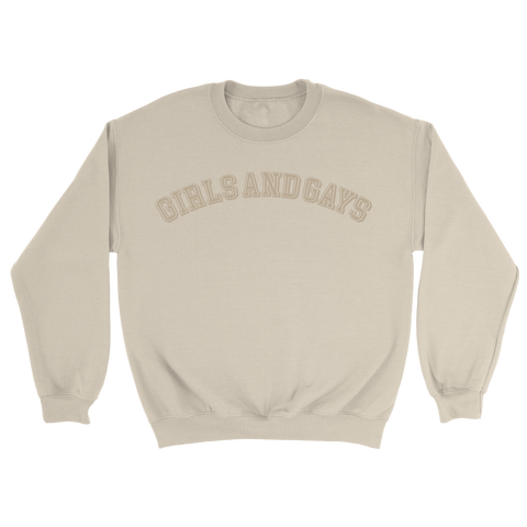 GIRLS & GAYS CREWNECK - KHAKI