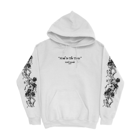 HEAD IN THE TREES HOODIE - WHITE