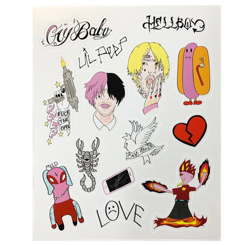 Lil Peep Sticker Sheet