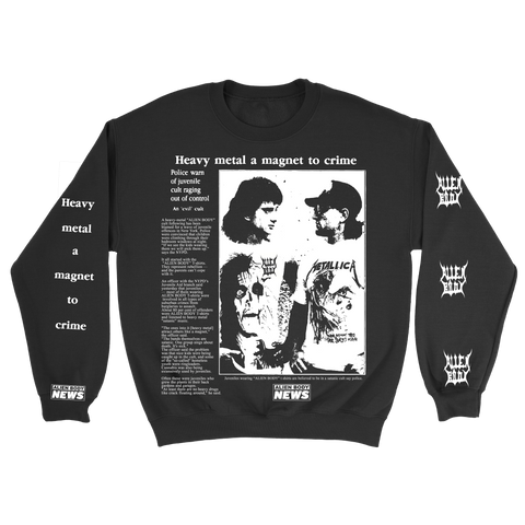 Heavy Metal Crime Crewneck