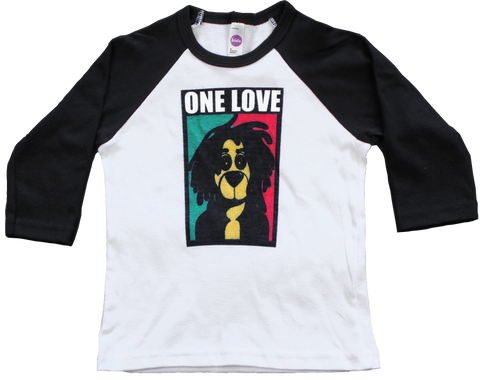 ONE LOVE TODDLER RAGLAN