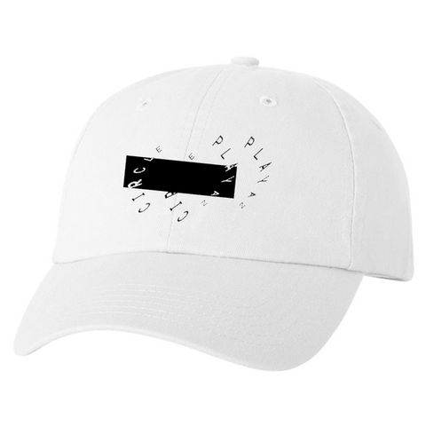 WHITE PLAYAZ CIRCLE HAT