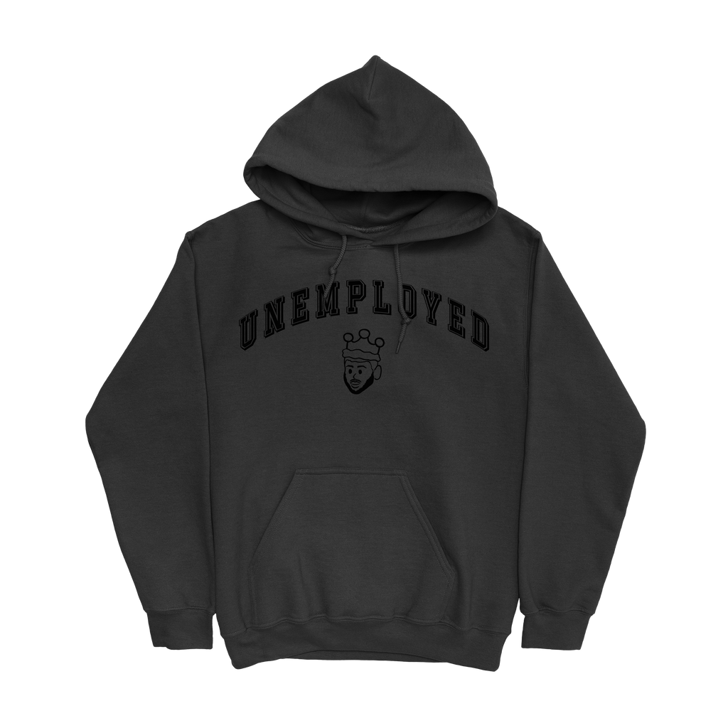 UNEMPLOYED HOODIE - BLACK