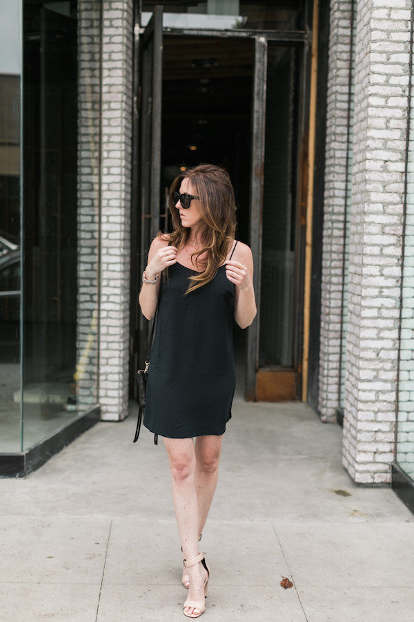 Black Slip Dress Outfit