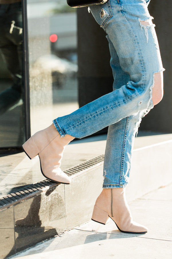 Blush booties dolce vita
