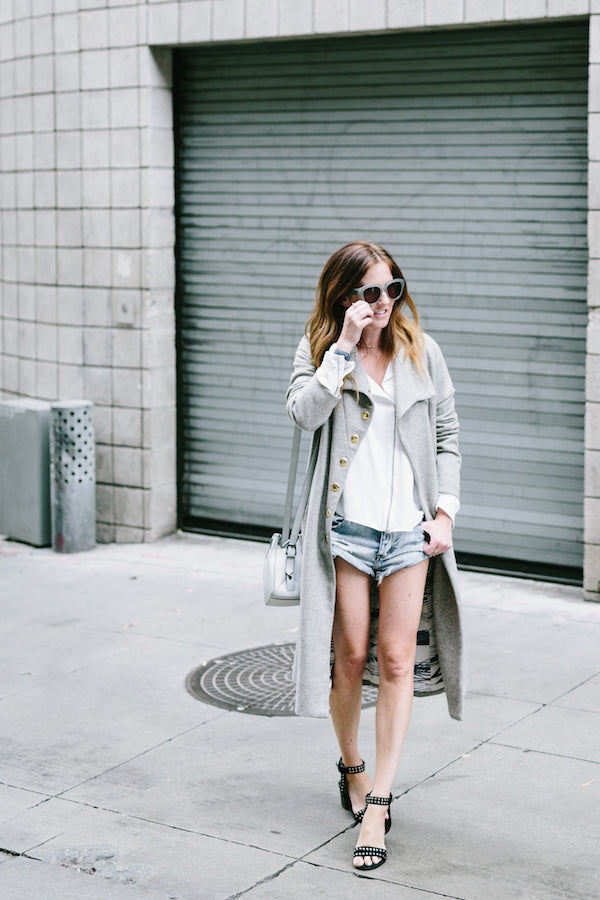 grey layered outfit