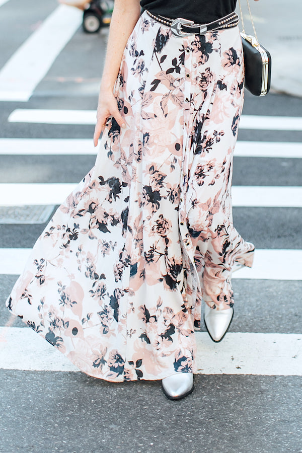 Floral maxi and booties
