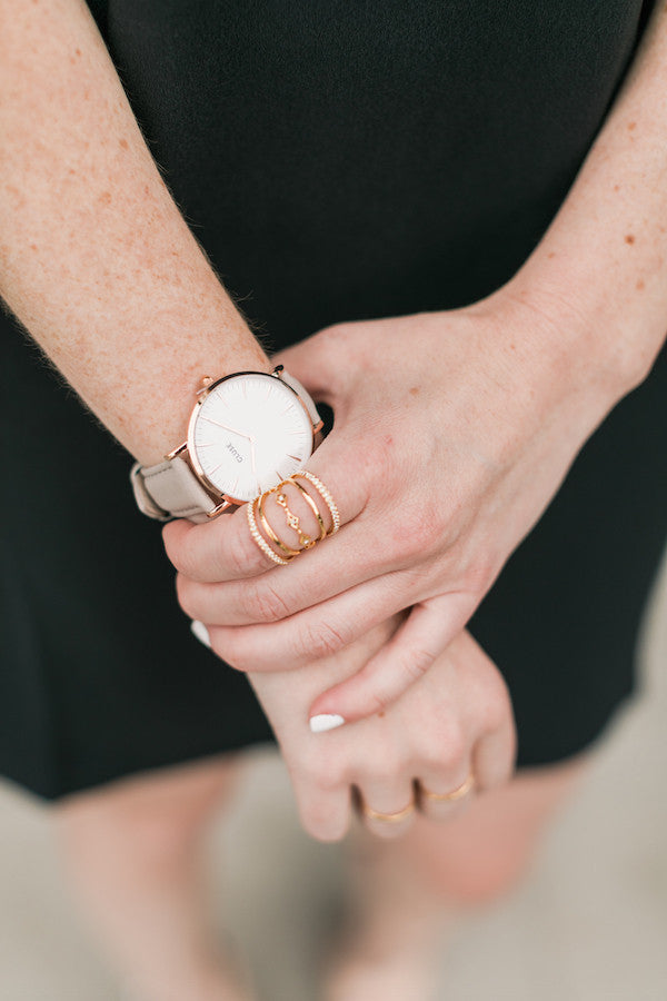 CLuse Gray and Rosegold Watch