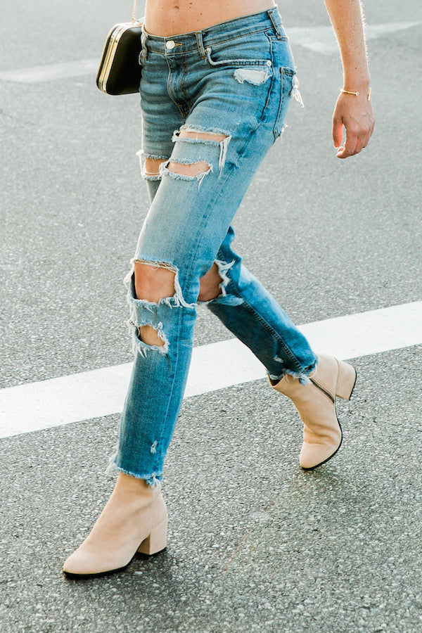 blush dolce vita booties
