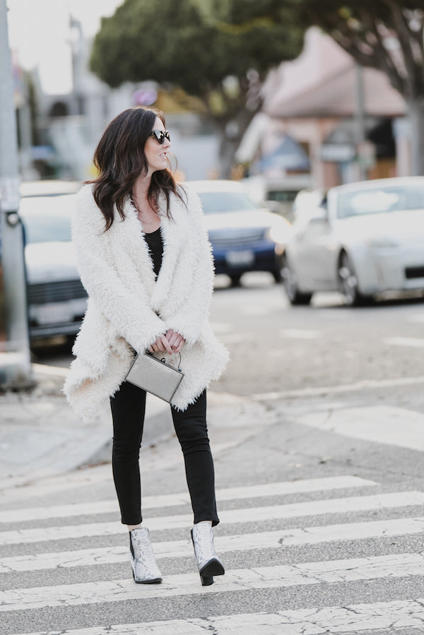 winter faux fur outfit