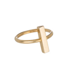 Bar Ring in Gold