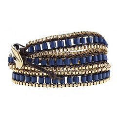 Blue Gypset Triple Wrap Bracelet