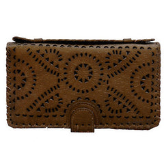 Mexicana Painted Clutch in Tan