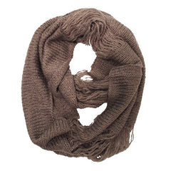 Grey Thick Infinity Scarf