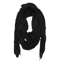 Distressed Scarf in Black