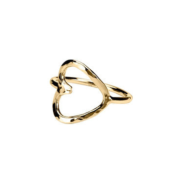 Adina Reyter Hallow Heart Ring – styled by NOIR