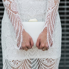 Cady Clutch in White