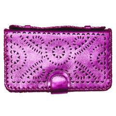 Mexicana Soft Clutch in Hot Violet