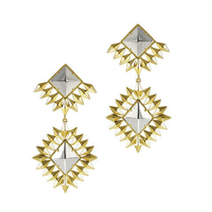 Double Diamond Statement Earrings
