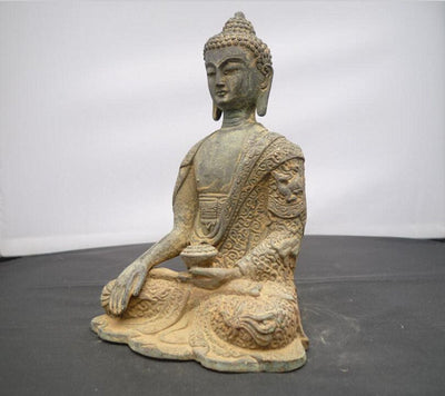 Statue Bouddha Assis <br> Tibetain (16 cm)