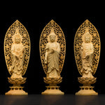 collection statues bouddha bois