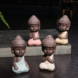 collection statue bouddha assis moines enfants