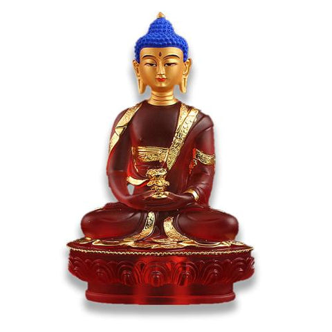 Statue Bouddha Rouge