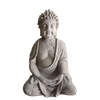 statue bouddha assis ciment mains jointes