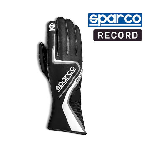 Sparco Kart Gloves Record Black | White