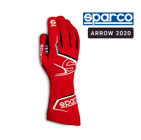 Sparco Kart Gloves Arrow 2020 Red | White