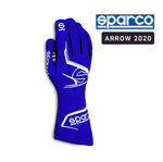 Sparco Kart Gloves Arrow 2020 Navy Blue | White