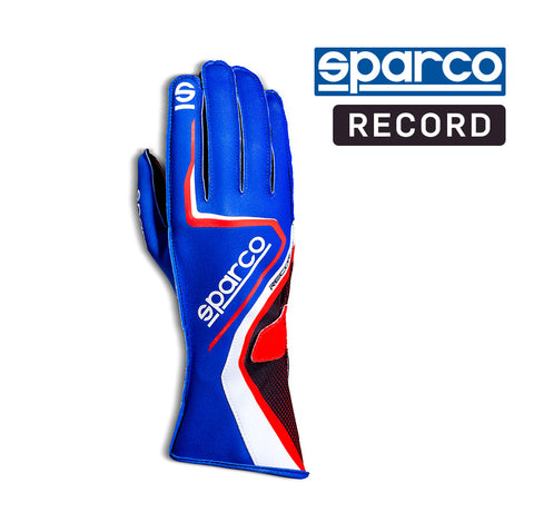 Sparco Kart Gloves Record Blue | Red