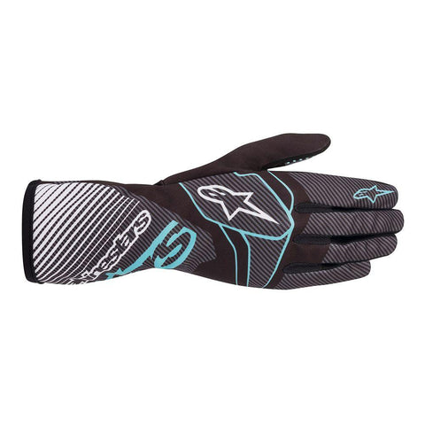 Alpinestar Gloves Tech 1 K Race V2 Black | Turquoise