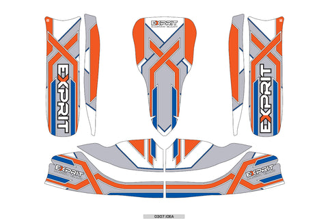 Exprit Sticker Kit - Suits M6 Bodywork(New Design) - OTK