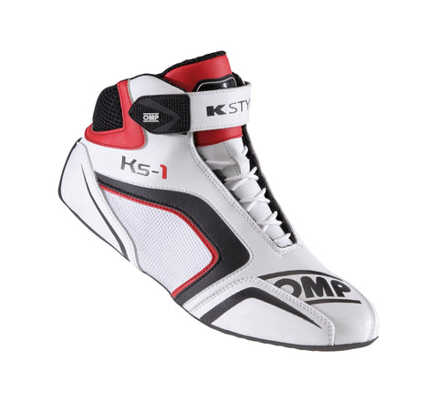 OMP Karting Boots KS-1 Black | White | Red