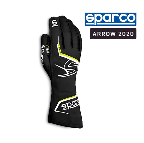 Sparco Kart Gloves Arrow 2020 Black | Yellow