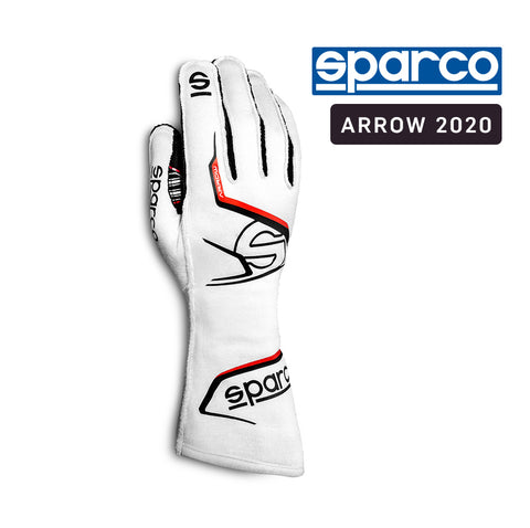 Sparco Kart Gloves Arrow 2020 White | Black