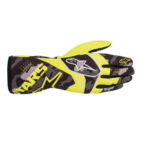 Alpinestar Gloves Tech 1 K Race V2 Camo Yellow Fluro | Black